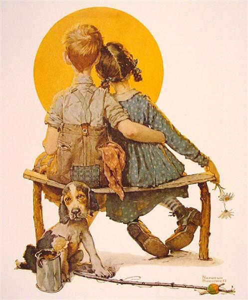 Rockwell Boy-and-girl-gazing-at-the-moon-1926.jpg!Large